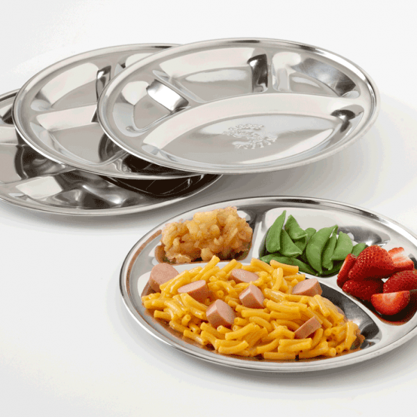 Stainless Steel No-Mess Plates