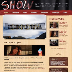 Happy Tiffin at Telluride Film Festival 2009